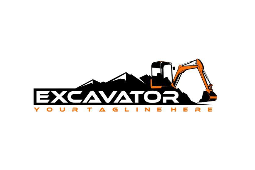 Editable Excavator Logo Design