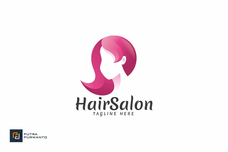 Editable Hair Logo Design