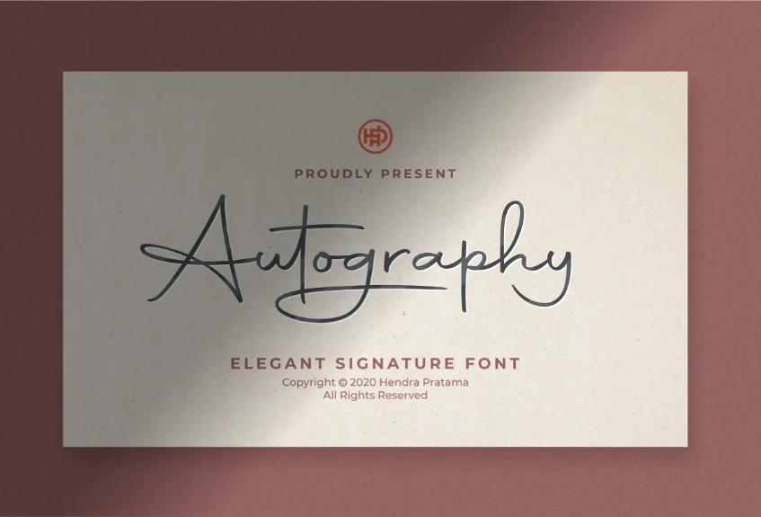 Elegant Autograph Typeface