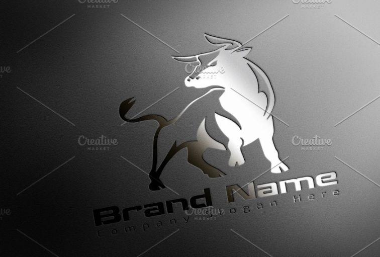 Elegant Bull Logo Concept