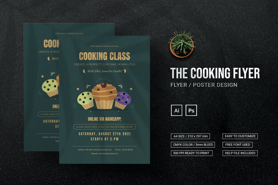 Elegant Cooking Class Flyer