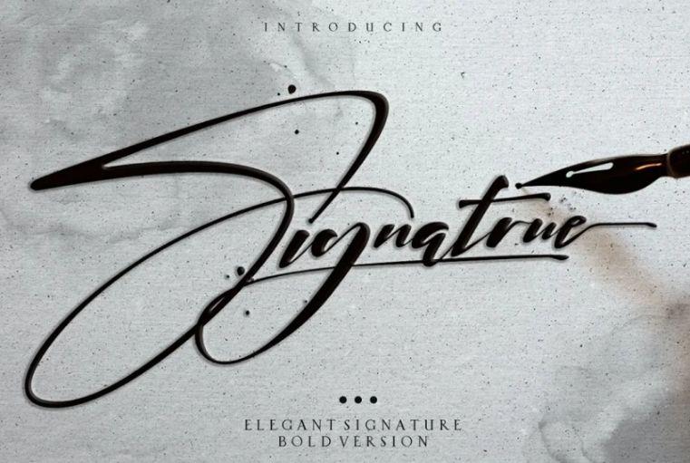 Elegant Ink Signature Typeface