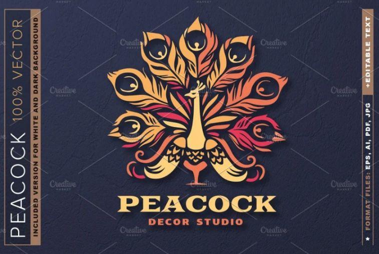 Elegant Peacock Style Logo Identity