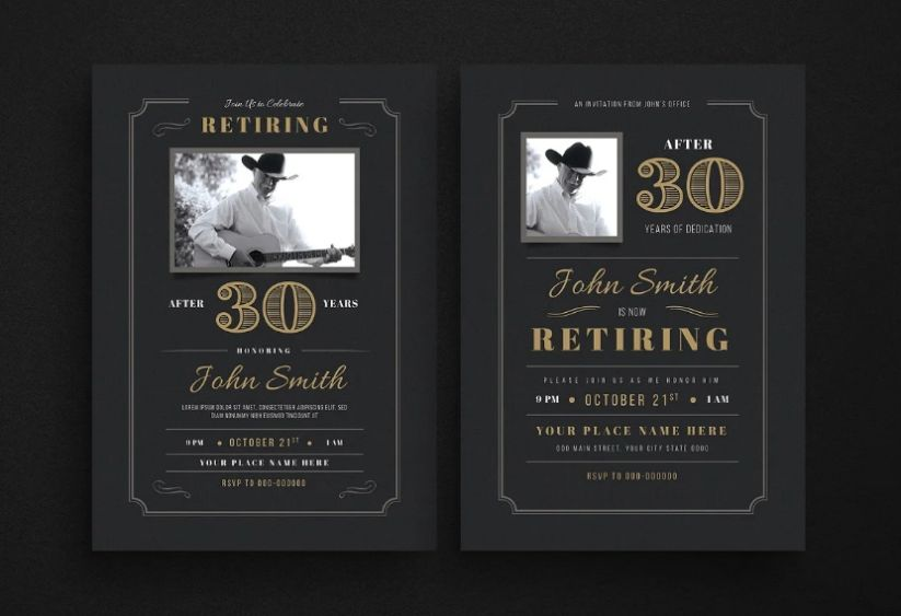 Elegant Retirement Invitation Flyer