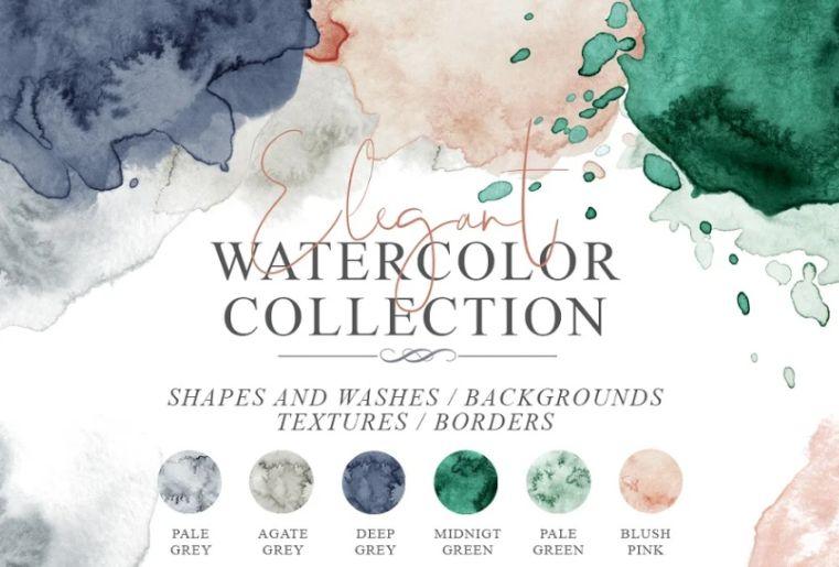 Elegant Watercolor Backgrounds Set