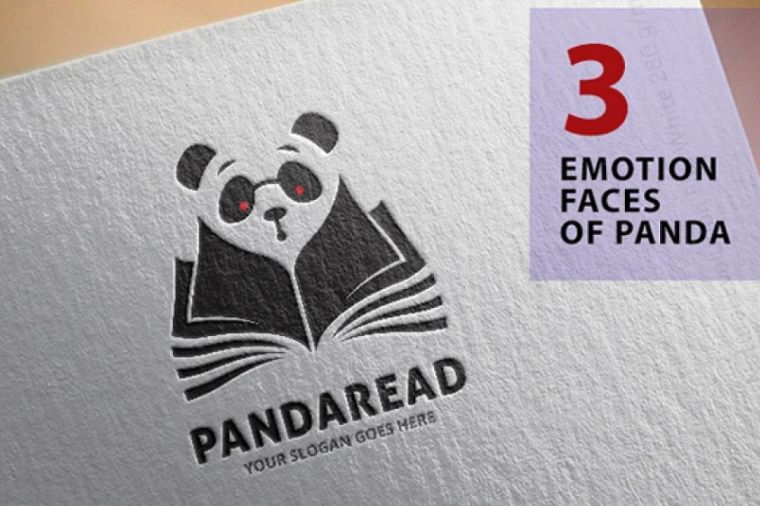 Emotional faced Panda Identity Design
