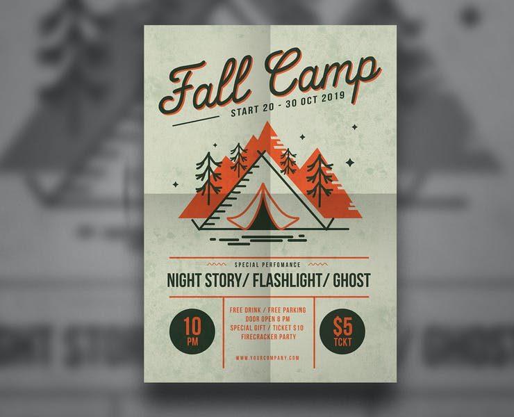 21+ Best Camp Flyer Templates PSD Ai Download