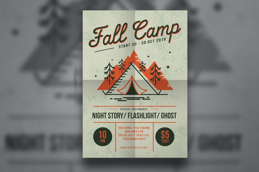 Fall Camp Flyer Templates Design