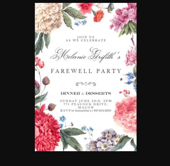 Farewell Party Invite Flyer