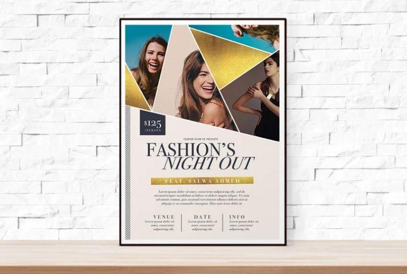 Fashion Week Promotional Flyer
