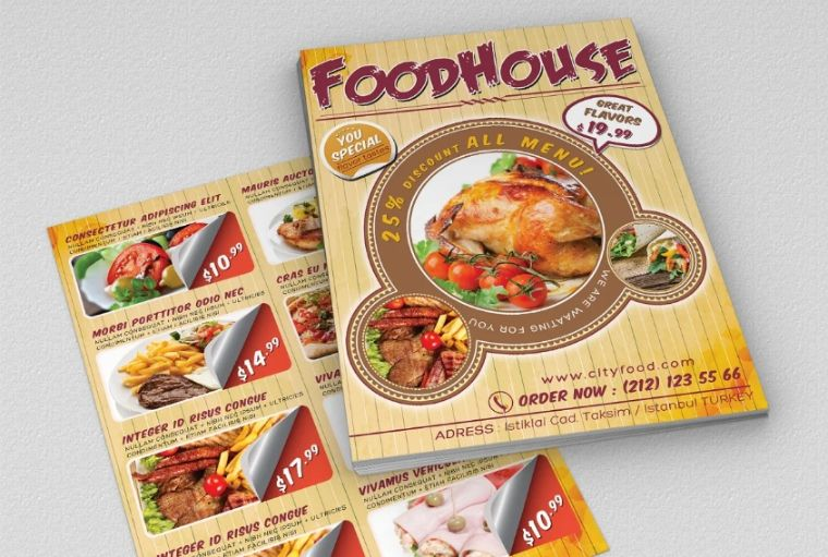 Fast Food Promtional Flyers