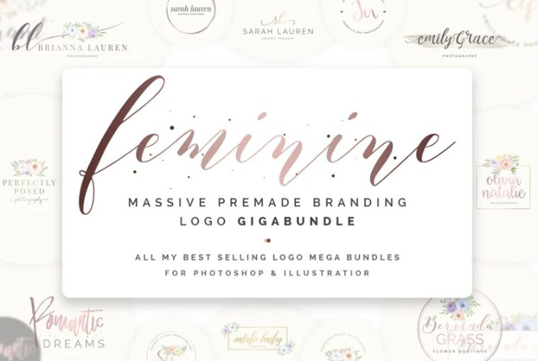 Feminine Style Logo Design Bundle