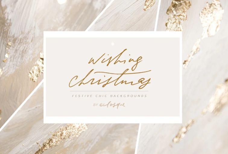 Festive Gold Foil Backgrounds