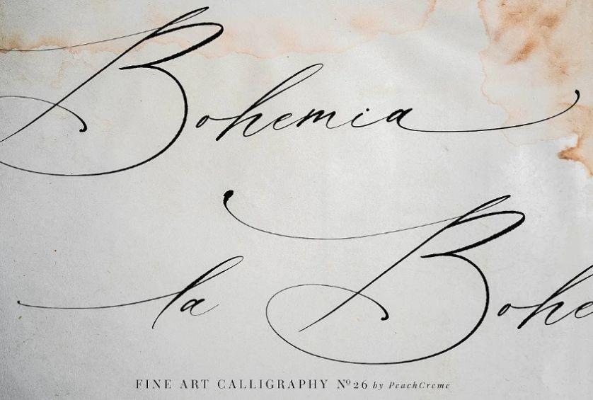 Fine art Stylish Fonts