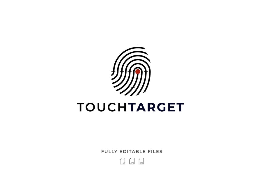 Finger Style Target Logotype