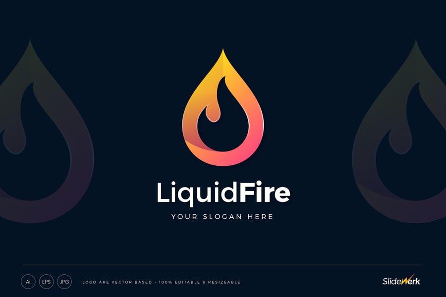 Fire Drop Logo Identity