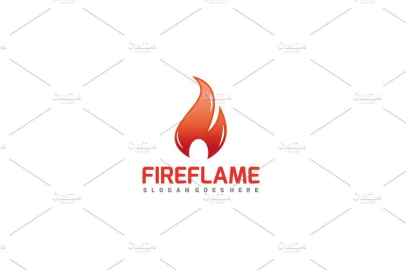 Fire Flame Logo Identity