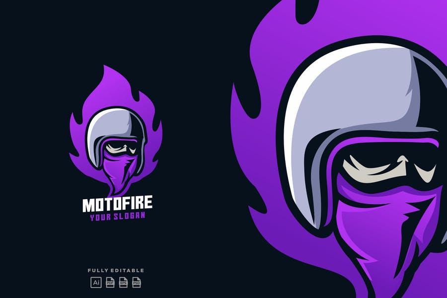 Fire Helmet Logo Design