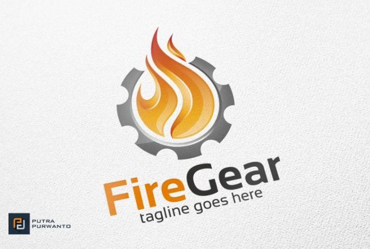 Fire and Gear Logo Idea