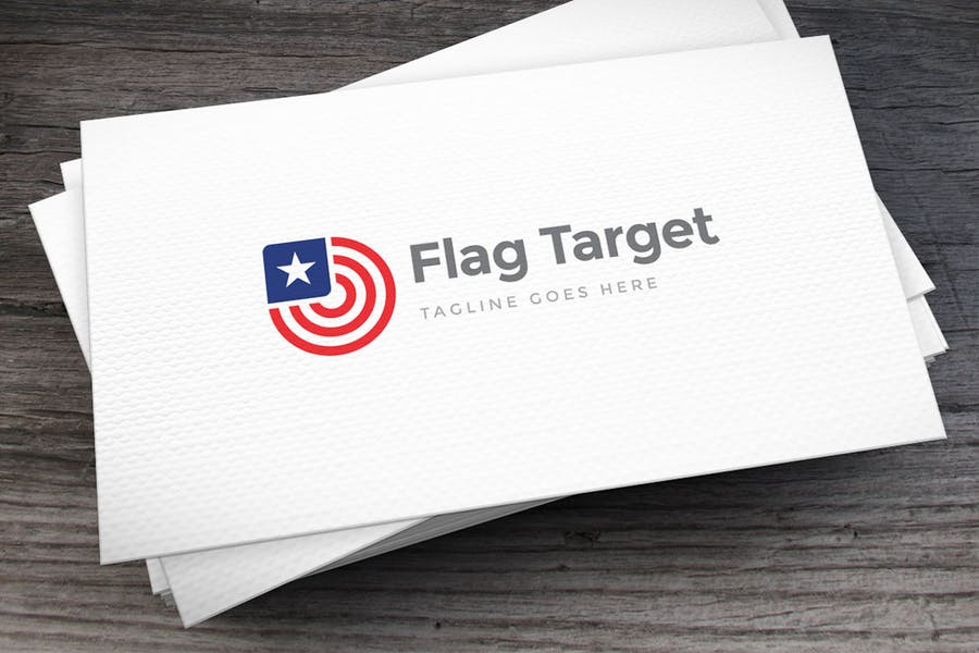 Flag Style Target Identity Design