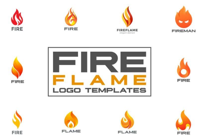 Flame Logo Templates Set