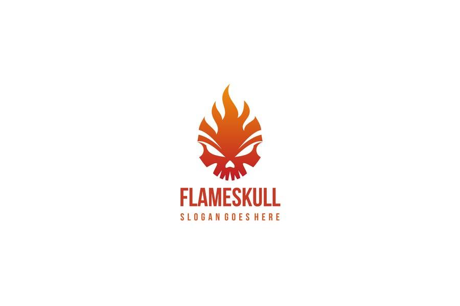 Flame Skull Logotype Design