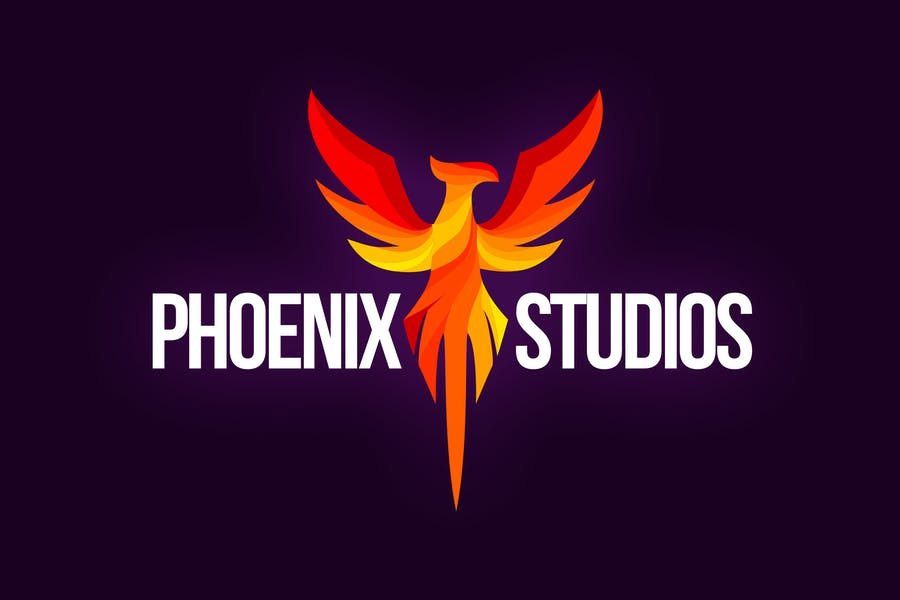 Flaming Phoenix Logo Template