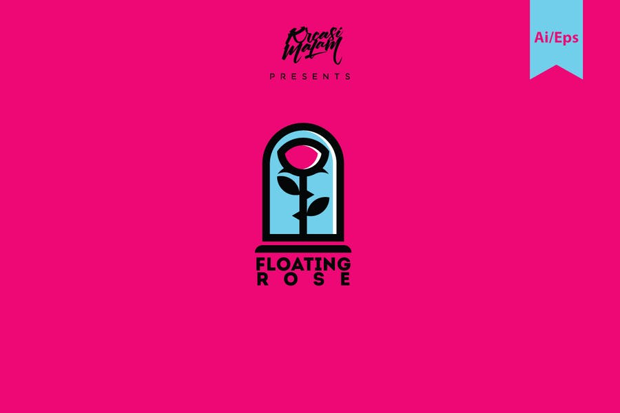 Floating Flower Logo Design