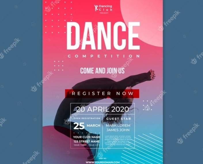 Free A4 Dance Poster Template