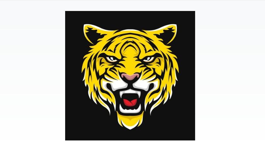 Free Aggressive Tiger Vector