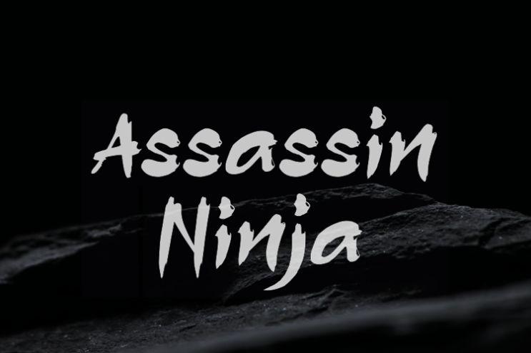 Free Assasin Ninja Typeface