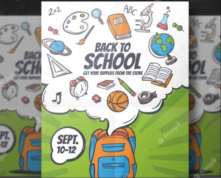 Free Back to School Flyer Design