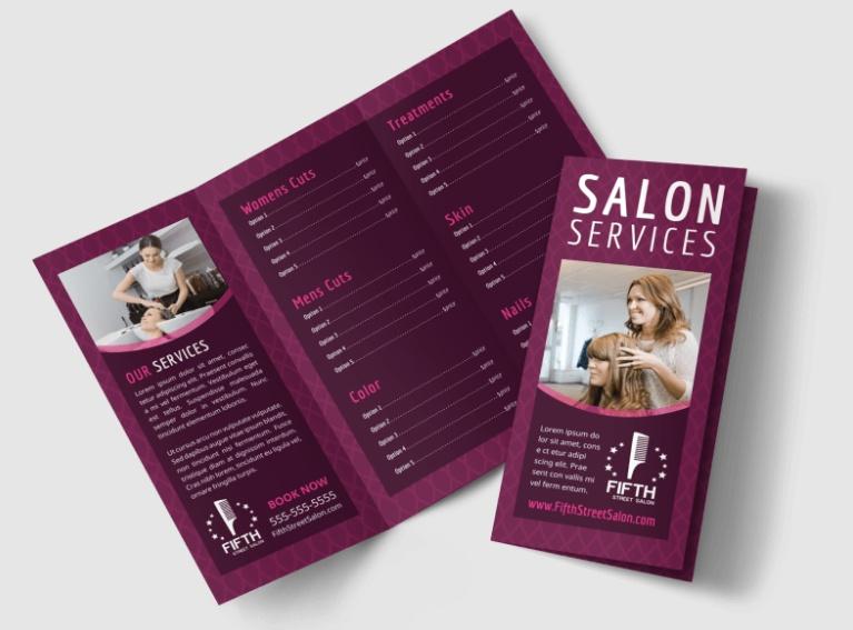 Free Beauty Parlor Brochure Template