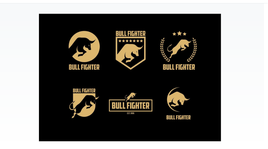 Free Bull Logo Branding Set