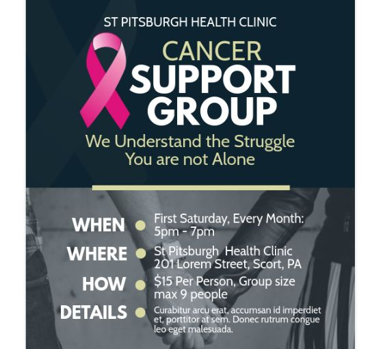 Free Cancer Support Flyer Designs