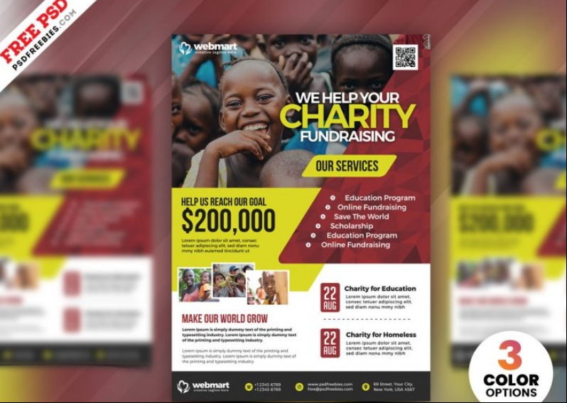 Free Charity Fundraiser Flyer