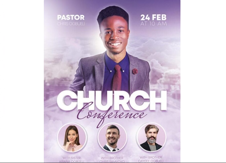 Free Church Conferencr Flyer Template