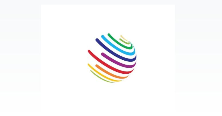 Free Colorful Globe Logo Template