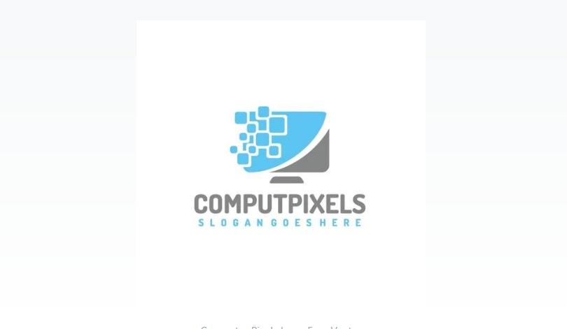Free Computer Pixel Logo Design