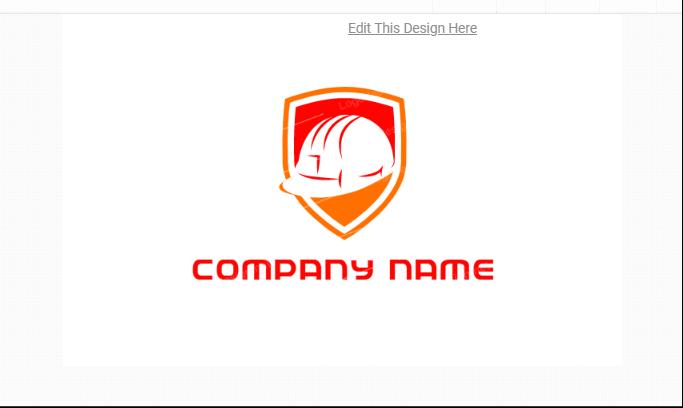 Free Construction Helmet Logotype