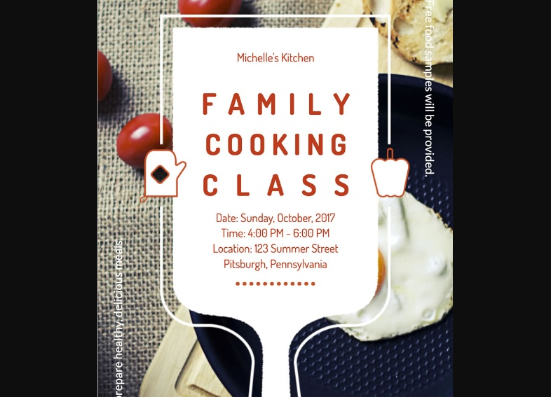 Free Cooking Class PSD Flyer