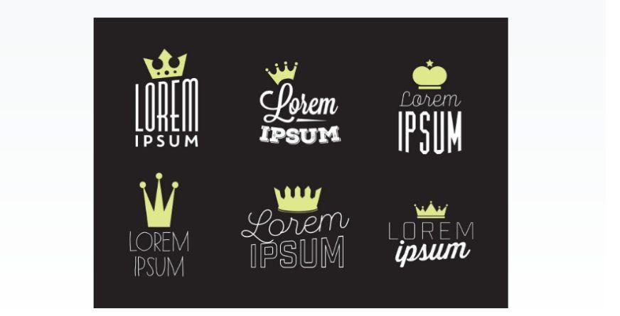 Free Crown Logo Set