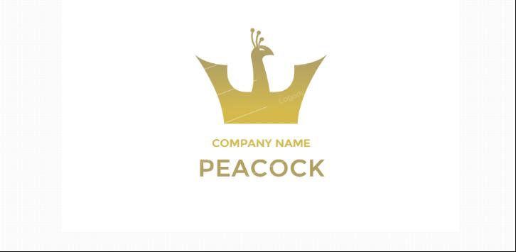 Free Crown Style Peacock Logo