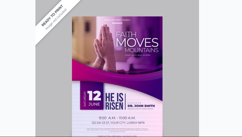 Free Faith Flyer template