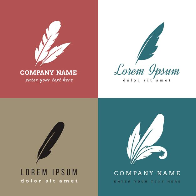 Free Feather Logo Template