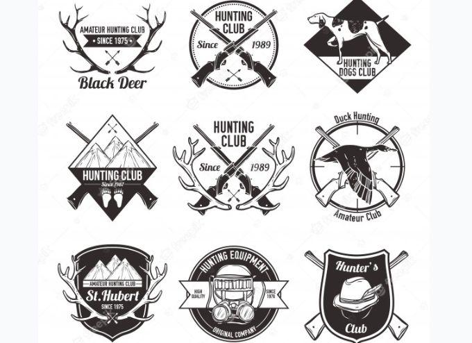 Free Flat Hunting Logo Set