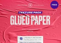 Glued paper textures