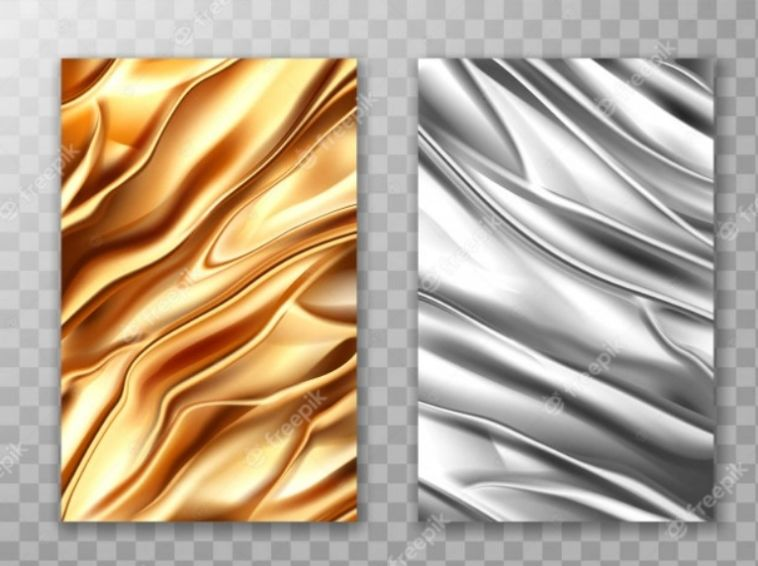 Free Gold and Silver Foil Background