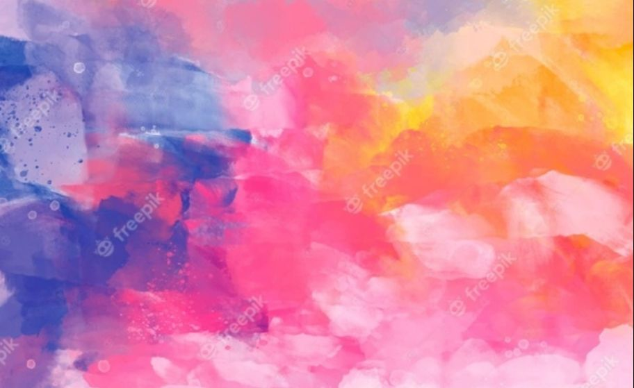 Free Hand painted Colorful Background