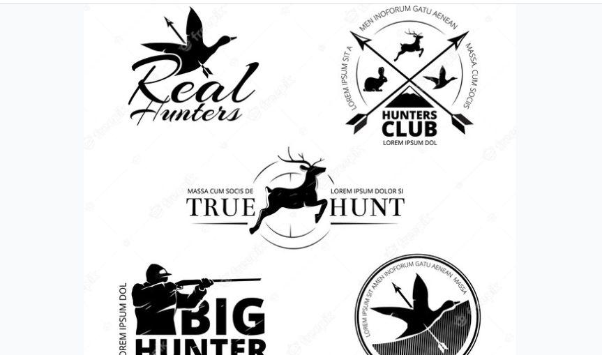 Free Hunting Badges Set